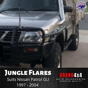 JUNGLE FRONT FENDER FLARES FOR NISSAN PATROL GU Y61 Series 1/2/3 1997-2004