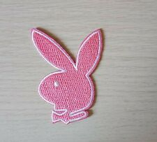 PLAYBOY PINK Iron on / Sew on Patch Embroidered Badge