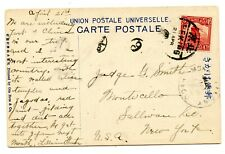 Weeda China 1916 UPU Postcard Peking to New York, single 4c franking