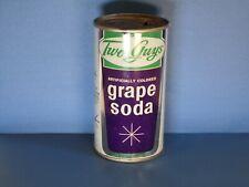 Two Guys Grape Flat Top Soda Can