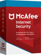 Mcafee Internet Security 2018 1 Año 3 Pc Version en Digital