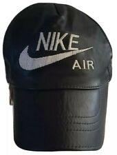 Vintage Nike Air Leather Cap Black Hook and Loop Adjustable Back Strap