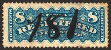 Canada #F3 8c Dull Blue 1876 Registration VF Used Rare