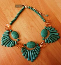 Chico's Monika Bib Turquoise Necklace  MSRP $99