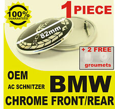 tapa llantas Capó rear front AC snitzer BMW 82mm 2 pernos  cromo espejo prata