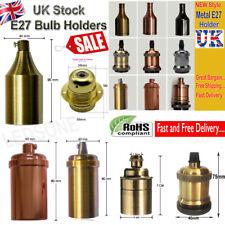 Vintage Industrial Lamp Light Bulb Holder Antique Retro Edison ES E27 Fitting UK