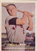 1957 Topps BB #177 Eddie Yost ~ Washington Senators ~ EX-MT (MC)