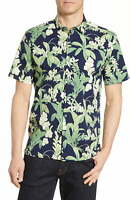 Tori Richard Men's Shirt Green Size XL Button Up Floral Botanist $98 #046
