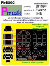 MESSERSCHMITT Bf-109 F PAINTING MASK TO ZVEZDA KIT #48002 1/48 PMASK