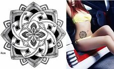 Corazón Flores Negro Encaje Henna Tatuajes Temporales GOTH GOTHIC Mujeres Body Art