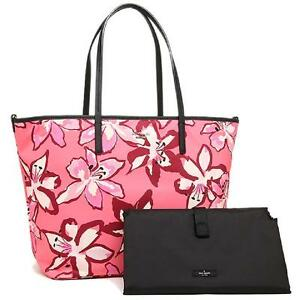 NEW Kate Spade Harmony Baby Diaper Bag Tiger Lily Surprise Coral Nylon & Leather