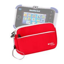 Red Neoprene Case Cover Sleeve For Use W/ Kids Vtech Innotab 3S Plus / 3S Tablet