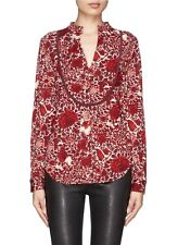 Tory Burch Lizzy Tunic Shirt Kyoto XL Gorgeous Tunic 12 Blouse Red 14