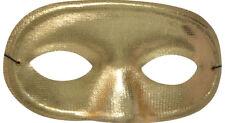 Morris Costumes Half Domino Mask Metallic Gold. TI60GD
