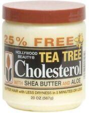 Hollywood Beauty Tea Tree Cholesterol With Shea Butter - Aloe, 20 oz