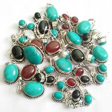 925 Silver Overlay Gemstone Handmade Jewellery 10pcs Pendant With Earrings