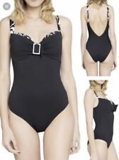 36F Low Back Black Swimsuit Underwired Maison Lejaby Diva RRP £109 Beach Holiday