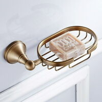 Bathroom Accessory Wall Mounted Antique Brass Soap Dish Holder Basket QD1786