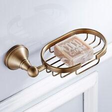 Bathroom Accessory Wall Mounted Antique Brass Soap Dish Holder Basket QD1786