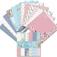12PCS 6'' Paper Pad Cat Floral DIY Scrapbooking Photo Album Origami Card Planner