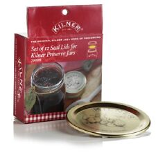 Kilner Set Of 12 Seal Lids for Gold Preserving Preserve Jar Sealing Vacuum