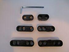Spark Plug Wire Separators Black 7mm 8mm Looms 350 454 Hot Rods 9577