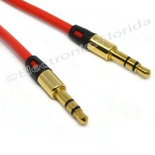 3.5mm Male Stereo Audio Auxiliary Cable Golden Plug for PC iPod Car Phone