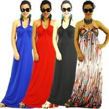 Halter Sleeve Solid Dresses Long
