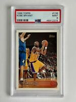 1996-97 Topps #138 Kobe Bryant Rookie Card PSA 9 MINT RC HOF Lakers Legend