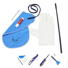 Flute Cleaning Kit Set with Cleaning Cloth Stick Cork Grease Screwdriver Gloves