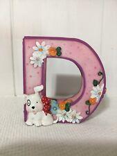 Mary Engelbreit Alphabet Letter D Resin Stand Up Figurine Dog Daisy