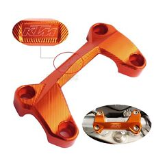 PONTET DE GUIDON SUPERIEUR SUPPORT ORANGE KTM 125 200 390 DUKE TUNNING NEUF