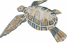 Swimming Sea Turtle Bathroom Rug Home Decor Art Marble Mosaic An1067