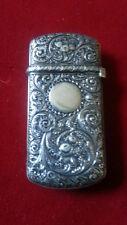 Antique Sterling Silver Cigarette Match Safe Case