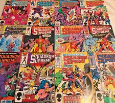 SQUADRON SUPREME#1-12 VF/NM 1985 MARVEL COMICS