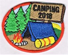 girl boy cub CAMPING 2018 Fun Patches Crests badges SCOUTS GUIDES trip Camp Out