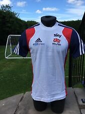 Adidas Men's Team Gb Sky Cycling Cotton Presentation T-shirt Size 34-36 Uk S