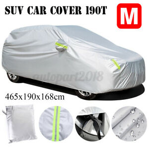 Full SUV Car Cover Waterproof Indoor Outdoor Sun UV Snow Rain Dust Resistant M