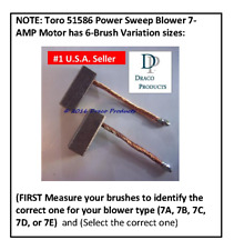 Fix Toro 51586 Power Sweep Blower 1-Speed 7-Amp Motor New Carbon Brush Set