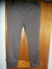 NWOT M&S TAUPE STRETCH COTTON TROUSERS SIZE 18 STRAIGHT LEG