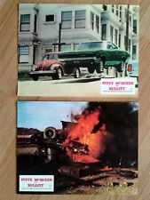 STEVE McQUEEN - BULLITT two scarce German lobby cards: Dodge Charger 1974