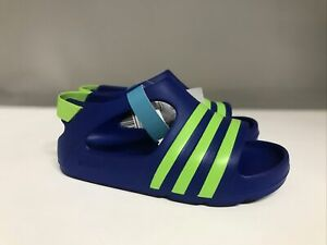 Adidas Originals Adilette Play Sandal Blue/Green Toddler Size 8