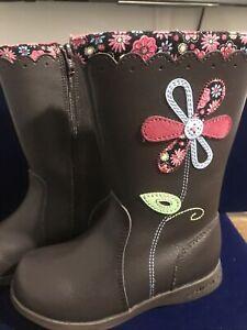 pediped Kenadi Boot, Chocolate Toddler Size  9-9.5