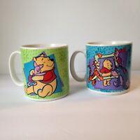 Vintage Pair of 1997 Disney Winnie the Pooh Piglet & Friends Coffee Tea Mug Cups
