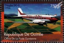 1936 DOUGLAS DC-3 DAKOTA Passenger Airliner Aircraft Stamp (2002 Guinea)