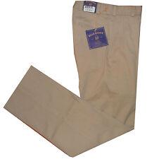 $165 New Bills Khakis M2P Men Pleated Front Pant Sz 26 unhemmed Trousers
