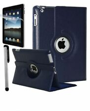 NAVY BLUE 360° Rotating iPad 2 / 3  / 4 SMART PU Leather Case + Protector