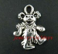 65pcs Tibetan Silver Nice Dancing Bear Pendants 22x15mm 9316