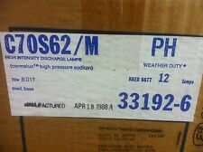 CASE OF 12, 70 WATT HIGH PRESSURE SODIUM LAMPS NIB PHILIPS LU70/MED  HPS