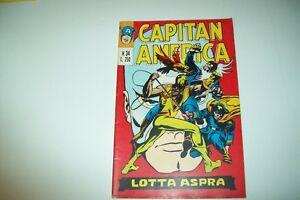 CAPITAN AMERICA N.34 31 LUGLIO 1974-LOTTA ASPRA-CORNO